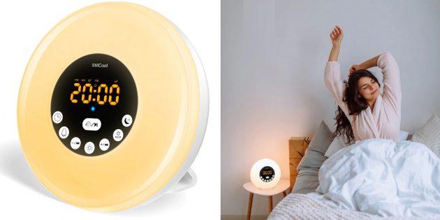 Электронный будильник с имитацией восхода и заката