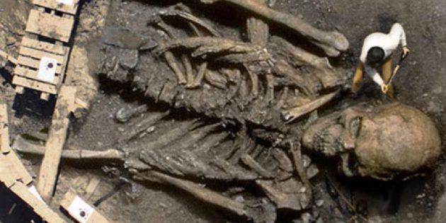 Раскопки скелета великана, якобы найденного в Индии или Саудовской Аравии