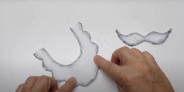 Как сделать Деда Мороза своими руками: сделайте бороду и усы