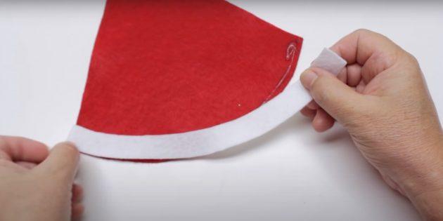 Как сделать Деда Мороза своими руками: сделайте заготовку для шапки