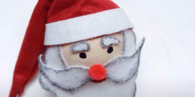 Как сделать Деда Мороза своими руками: сделайте брови