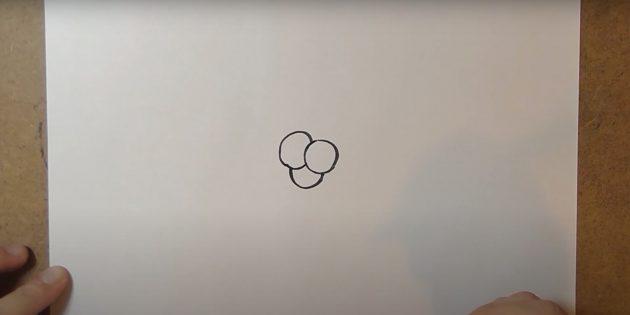 Как нарисовать колокольчик: добавьте ещё два круга