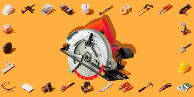 инструменты для ремонта: циркулярная пила