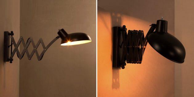Как организовать освещение дома: настенный светильник с выдвижным механизмом