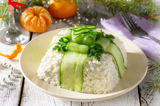 Праздничный салат «Подарок»