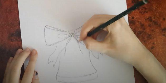 Нарисуйте две линии