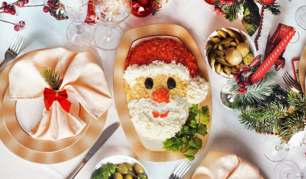 Самый новогодний салат «Дед Мороз»