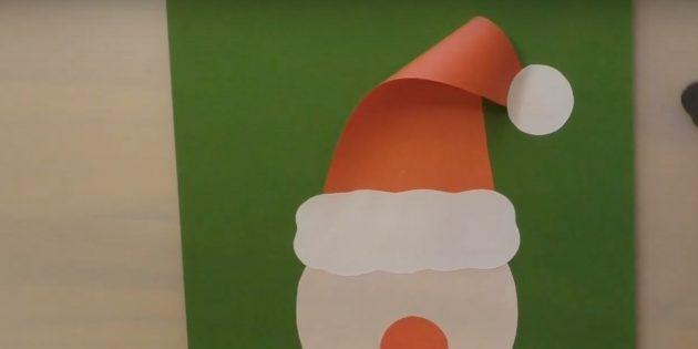 Как сделать Деда Мороза своими руками: приклейте круг