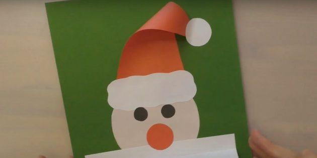 Как сделать Деда Мороза своими руками: приклейте глаза