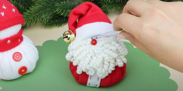 Дед Мороз из ткани своими руками