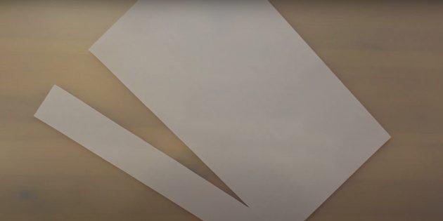 Как сделать Деда Мороза своими руками: отрежьте полоску бумаги