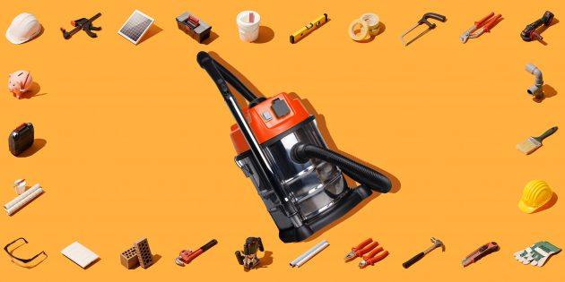 инструменты для ремонта: строительный пылесос