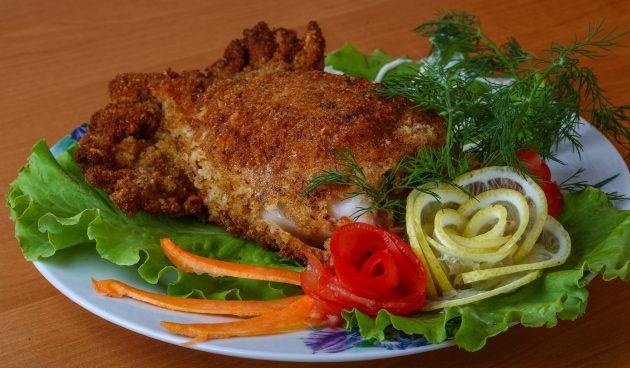 Жареные фаршированные кальмары с мясом