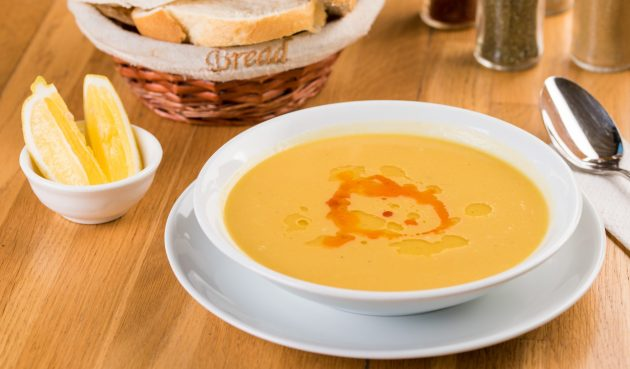 Суп из красной чечевицы с лимоном