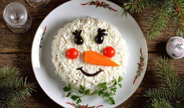 Салат «Снеговик». Добавьте в новогоднее меню