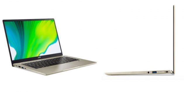 Недорогие ноутбуки: Acer Swift 1SF114