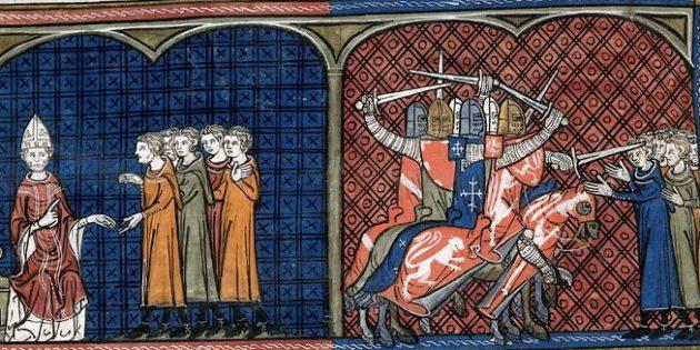 Крестовые походы: римский папа отлучает альбигойцев от церкви, и крестоносцы уничтожают их