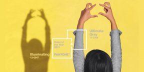 Институт цвета Pantone назвал два главных оттенка 2021 года