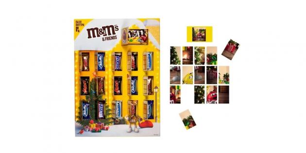 Набор конфет M&M's «Дом с окошками и пазлом»