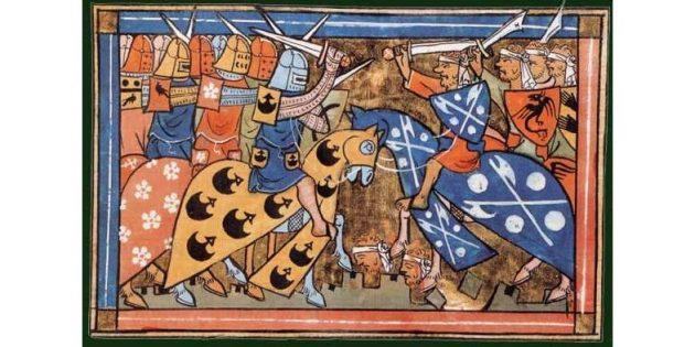 Крестовые походы: сражение крестоносцев с сарацинами