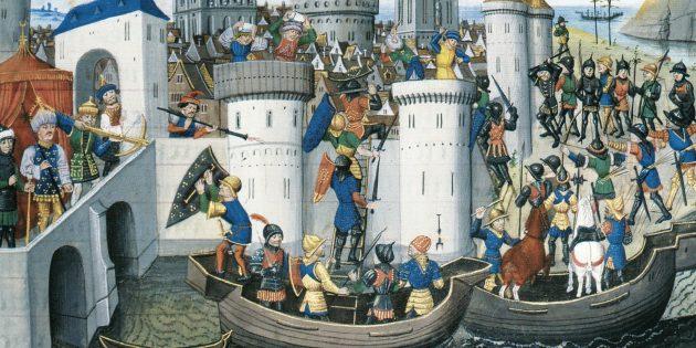 Захват крестоносцами Константинополя в 1204 году
