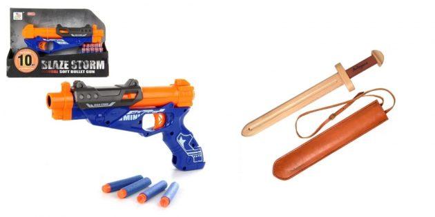 Подарки мальчику на Новый год: игрушечное оружие