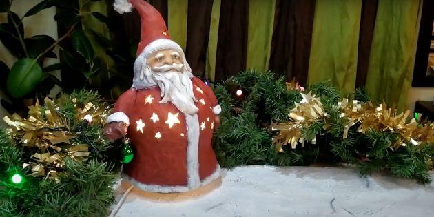 Дед Мороз из светильника своими руками