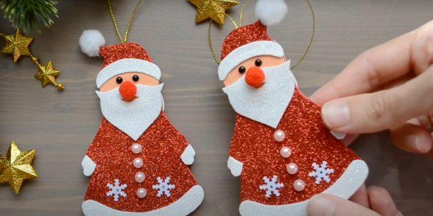 Дед Мороз из фоамирана своими руками