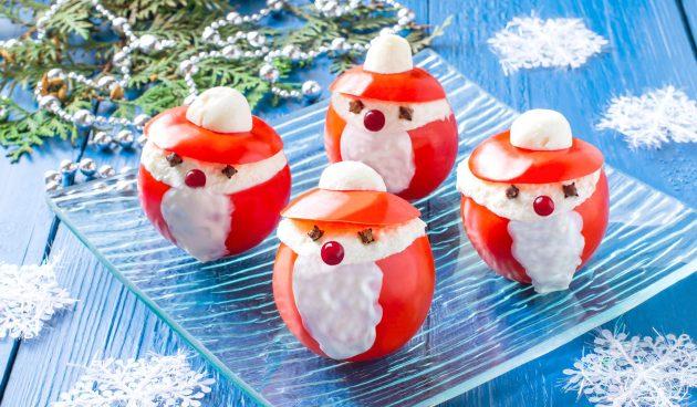 Закуска из помидоров «Дед Мороз»