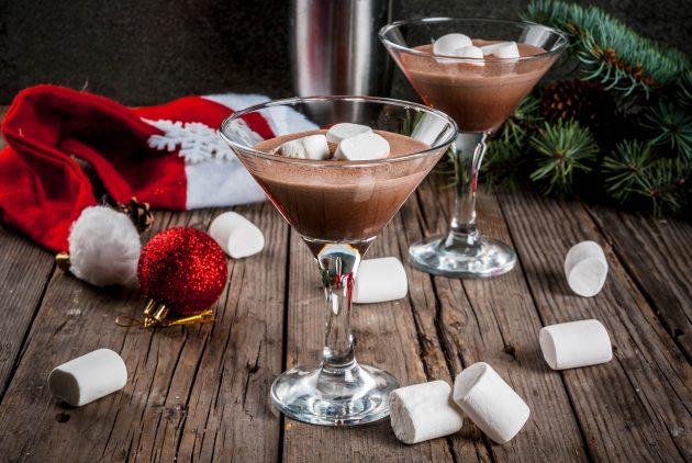 Шоколадный коктейль со сливочным ликёром и водкой