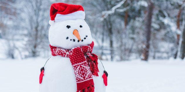 Зимние забавы: лепка снеговика