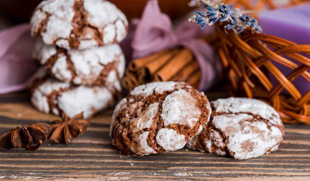 Мраморное имбирное печенье