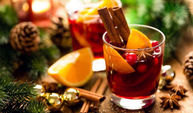 Глинтвейн с клюквой и апельсиновым соком