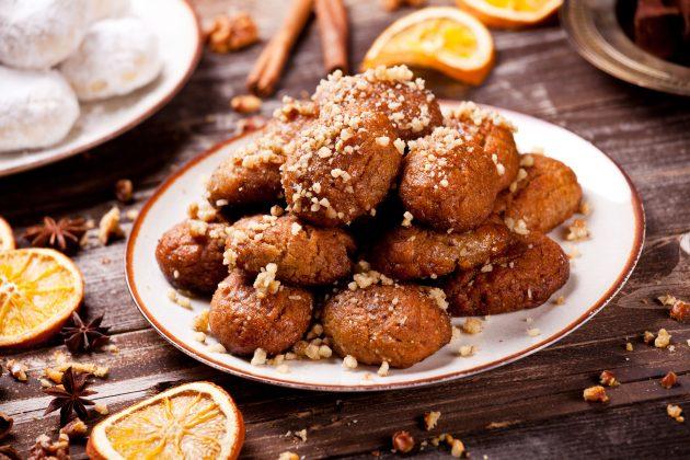 Меломакарона — греческое рождественское печенье