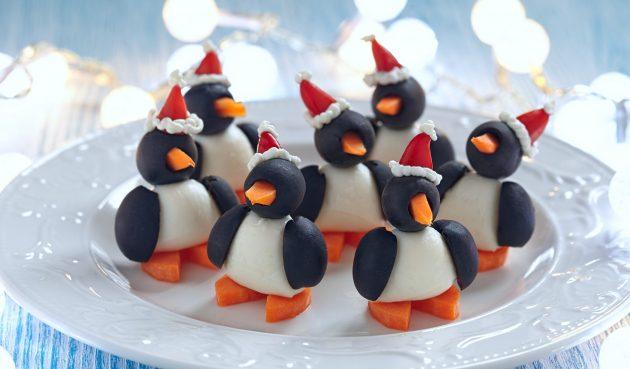 Пингвины из маслин. Милейшая закуска на Новый год