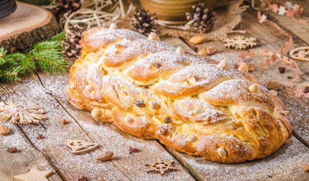 Чешский рождественский хлеб