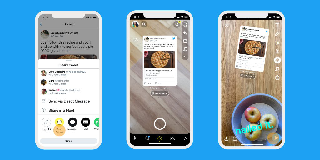 Как в Twitter отправлять твиты в Instagram или Snapchat