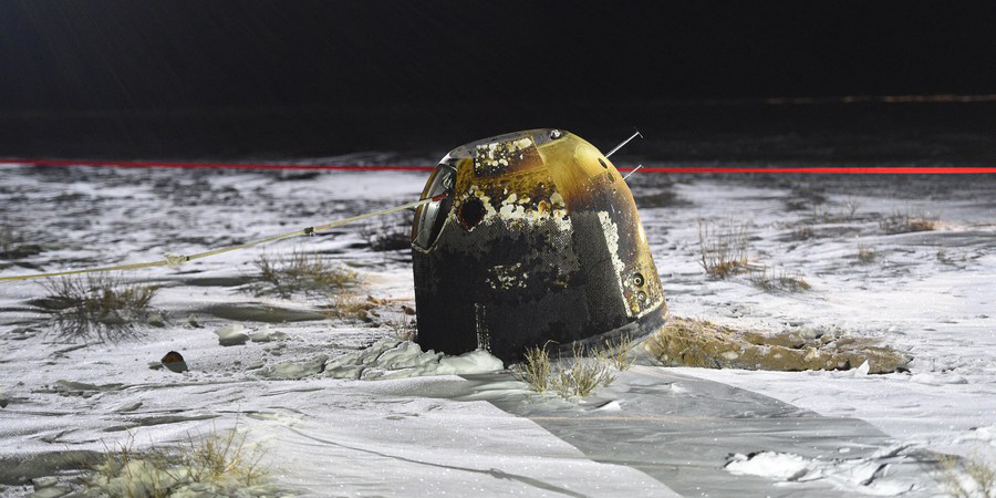 «Чанъэ-5» доставил на Землю образцы лунного грунта