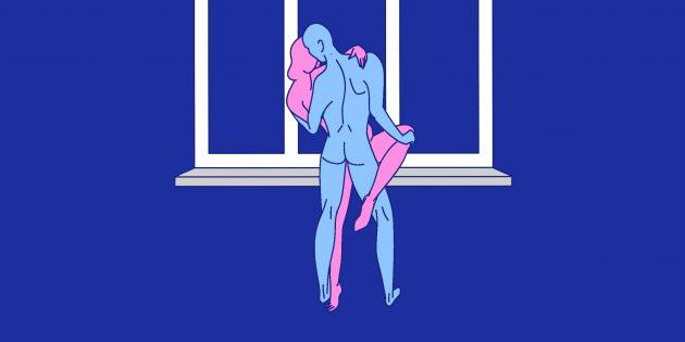 Секс на подоконнике: стоя с поднятой ногой