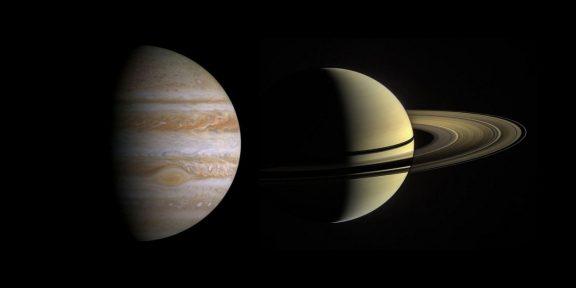 Юпитер и Сатурн максимально сблизились на звёздном небе. Собрали фото этого редчайшего события