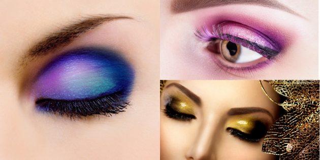 Попробуйте цветные тени для вечернего макияжа