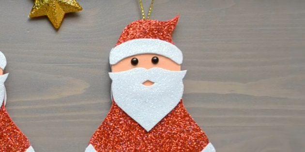 Как сделать Деда Мороза своими руками: приклейте бусины