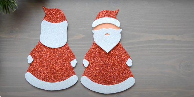 Как сделать Деда Мороза своими руками: приклейте варежки
