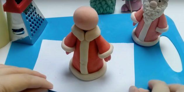 Как сделать Деда Мороза своими руками: закрепите голову