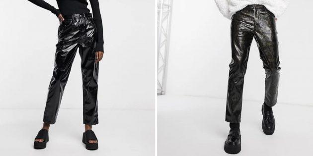 В чём встречать новый 2021 год: Одежда из лакированной кожи