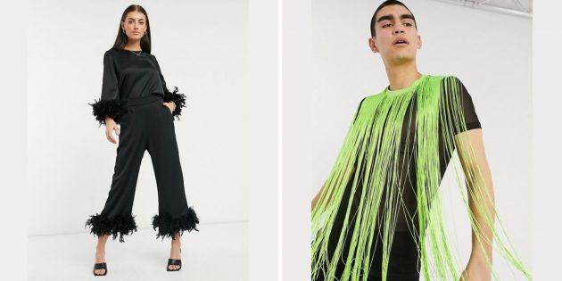 В чём встречать новый 2021 год: Одежда с бахромой или перьями