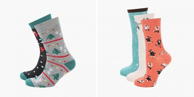Подарки подростку на Новый год: набор носков