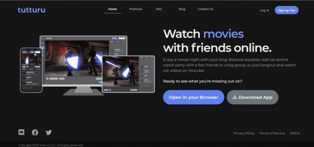 Сервисы для совместного просмотра фильмов: Tutturu