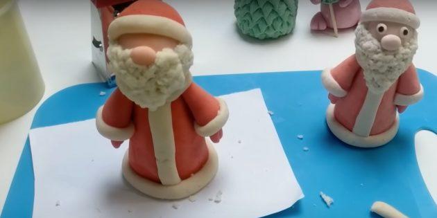 Как сделать Деда Мороза своими руками: сделайте отворот шапки