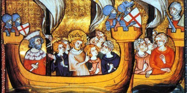 Крестовые походы: Людовик IX во главе крестоносцев на пути в Египет